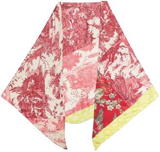Pierre Louis Mascia Patchwork Print Silk Scarf