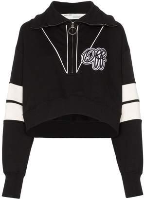 Off-White logo print cropped sweatshirt