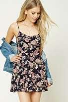 Forever 21 FOREVER 21+ Floral Print Skater Dress