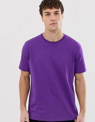 Asos Design DESIGN relaxed t-shirt with crew neck in purple