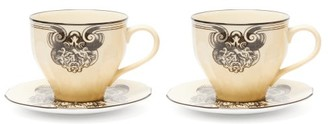 Gucci X Richard Ginori Set Of Two Cups And Saucers - White Multi