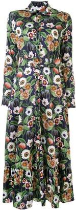 Borgo de Nor Floral Print Shirt Dress