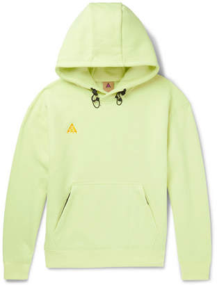 Nike Acg Logo-Embroidered Fleece-Back Cotton-Blend Jersey Hoodie