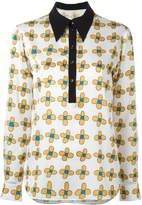 Christopher Kane allover printed flower shirt
