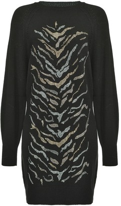 Pinko Zebra-Pattern Jumper Dress