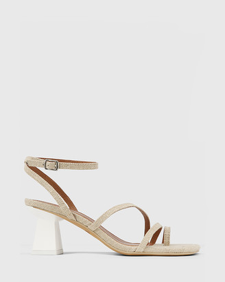 Wittner - Women's Neutrals Sandals - Kaiya Linen Strappy Sculptured Heel Sandals - Size One Size, 36 at The Iconic