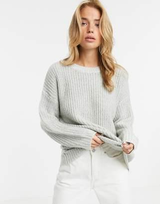 New Look long line jumper in grey