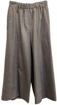 Incotex Grey Wool Trousers for Women