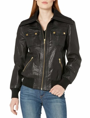 Trina Turk Women's La Cienega Leather Jacket