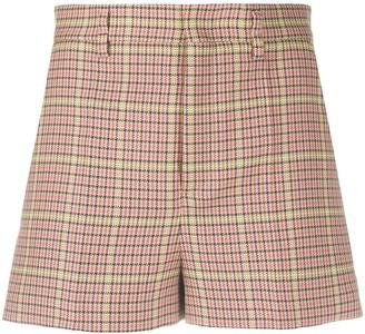 RED Valentino Check Print Shorts