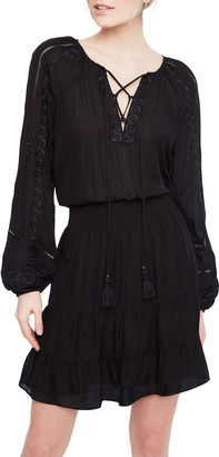 Parker Anaelle Embroidered Long-Sleeve Dress