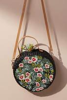 Anthropologie Blooming Raffia Crossbody Bag
