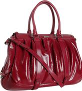 garnet red patent leather 'Allen' medium tote bag