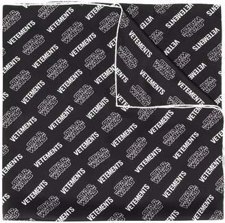 Vetements x star wars silk logo scarf