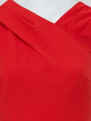 Very Mila Draped Skirt Prom Dress - Red