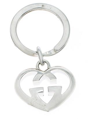 Gucci GG Heart Love Britt Silver Key Chain