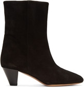 Isabel Marant Black Suede Dyna Boots
