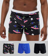 Asos Design ASOS DESIGN 3 pack jersey boxers in space print save