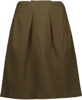 Roland Mouret Kava pleated stretch-wool mini skirt