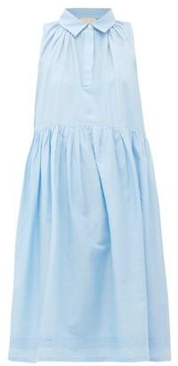 Anaak - Sophie Pintucked Cotton-blend Dress - Light Blue