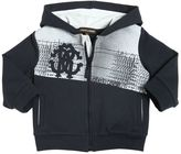 Roberto Cavalli Logo Printed Cotton Hooded Sweatshirt