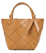 Thumbnail for your product : Etienne Aigner Ella Small Woven Leather Satchel