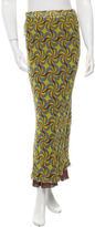 Alberta Ferretti Silk Printed Maxi Skirt