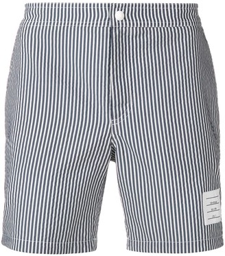 Thom Browne Seersucker Swim-Tech Swim Short