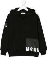MSGM hooded logo sweatshirt