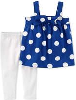 Carter's 2-Pc. Dot-Print Tunic & Leggings Set, Toddler Girls