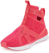 Puma Fierce High-Top Strap Flocking Sneaker