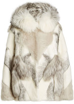 Yves Salomon Mink and Fox Fur Coat