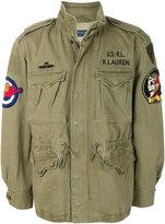 Polo Ralph Lauren patch appliqué military jacket