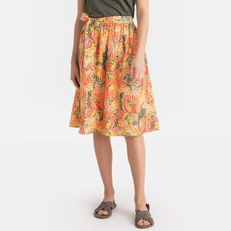 Naf Naf Printed Side Tie Midi Skirt