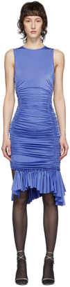 Thierry Mugler Blue Ruched Dress