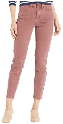 FDJ French Dressing Jeans Solid Cool Twill Olivia Slim Ankle (Rosewood) Women's Casual Pants