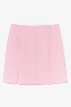 Nasty Gal Womens Check Me Out Slit Mini Skirt - Pink