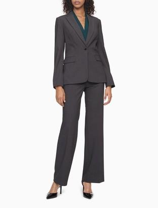 Calvin Klein One Button Charcoal Suit Jacket