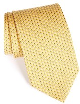 Salvatore Ferragamo Men's Geo Print Silk Tie