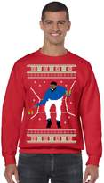 Allntrends Men's Crewneck 1-800 Hotline Bling Ugly Christmas Sweater (M, )