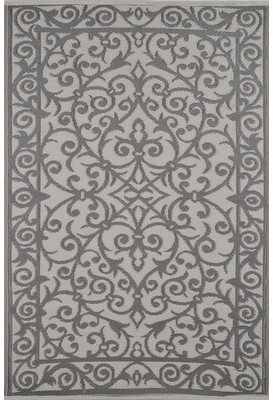 Wildon Home Lightweight Reversible Taupe Gray/Buttercream Indoor/Outdoor Area Rug