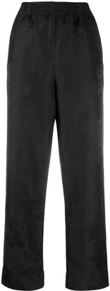 aganovich Elasticated Waist Straight Trousers