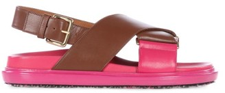 Marni Fussbett Smooth Leather Sandals - Tan Multi