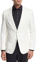 HUGO BOSS Textured Two-Button Sport Coat, White