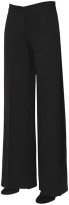 Alexander McQueen Light Wool & Silk Blend Tuxedo Pants