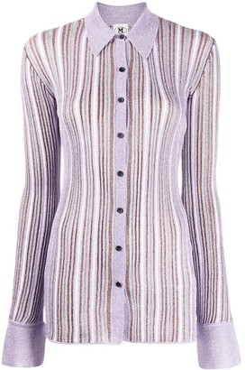 M Missoni Fitted Striped Shirt