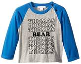 Burberry Tomi Long Sleeve Tee (Infant/Toddler) (Grey Melange) Boy's T Shirt