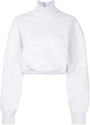 Alexander Wang Cropped Monogram Sweatshirt