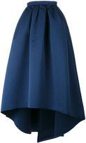 Paule Ka high low full skirt - women - Polyester/Cupro - 36