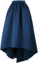 Paule Ka high low full skirt - women - Polyester/Cupro - 40